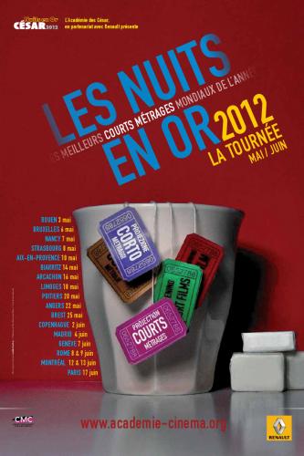 les nuits en or des courts mÉtrages 2012 2012,cinéma