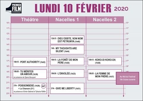 festival annonay 2020,programme du jour
